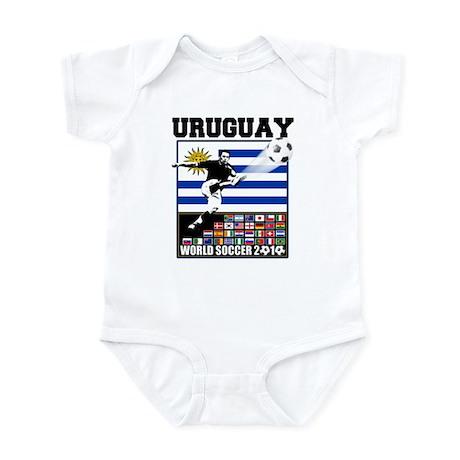 Uruguay World Soccer Futbol Infant Bodysuit