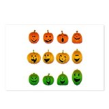 Jack-o-Lanterns Postcards (Package of 8)