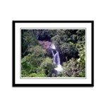 Waterfall Framed Panel Print