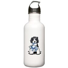 Black Doodle Bee Water Bottle