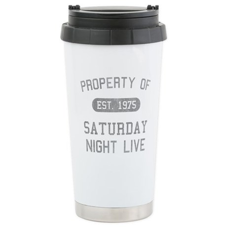 Property of SNL Ceramic Travel Mug