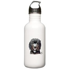 Black Doodle Bee Water Bottle