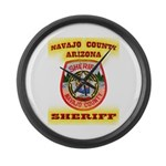 Navajo County Sheriff Large Wall Clock
