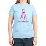 Butterfly Pink Ribbon T-Shirt
