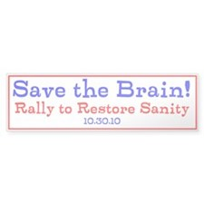 Save the Brain! Torn Flag Bumper Sticker