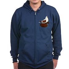 Silesian Swallow Pigeon Zip Hoodie