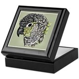 Unique Parrots Keepsake Box