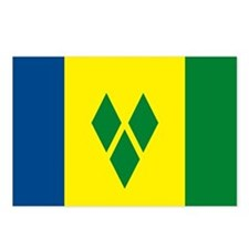 St. Vincent Flag Postcards (Package of 8)