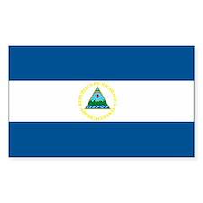 Nicaragua Flag Rectangle Decal