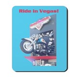 Ride in Vegas Mousepad Blue Background