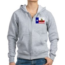Dont Tread on Me Texas Flag Zip Hoodie