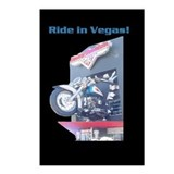 Ride in Vegas Postcards Black Background