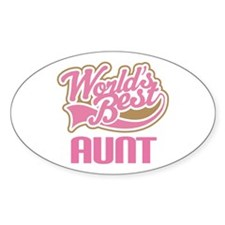 Cute Worlds Best Aunt Decal
