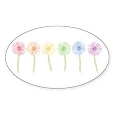 Rainbow Daisies Decal