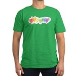 Watercolor Rainbow Hearts Men's Fitted T-Shirt (da