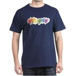 Watercolor Rainbow Hearts Dark T-Shirt