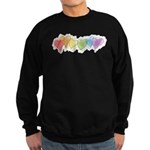 Watercolor Rainbow Hearts Sweatshirt (dark)