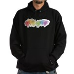 Watercolor Rainbow Hearts Hoodie (dark)