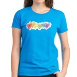 Watercolor Rainbow Hearts Women's Dark T-Shirt