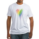 Rainbow Heart Fitted T-Shirt
