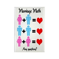 Marriage Math Rectangle Magnet (100 pack)