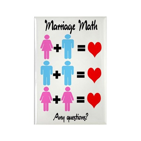 Marriage Math Rectangle Magnet