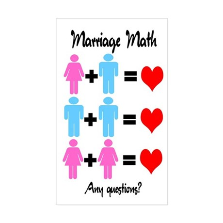 Marriage Math Rectangle Sticker