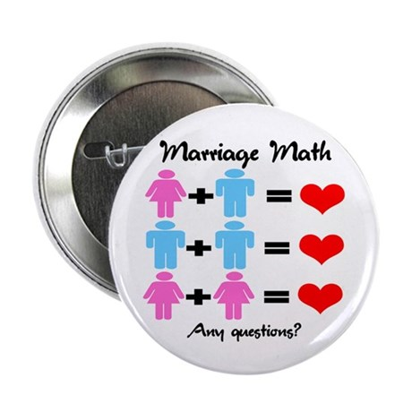 "Marriage Math 2.25"" Button (100 pack)"