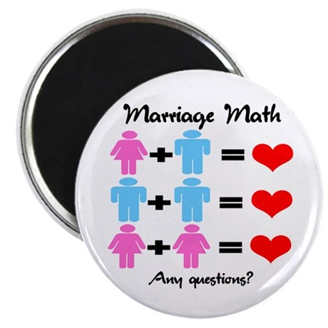 "Marriage Math 2.25"" Magnet (100 pack)"