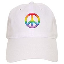 Gay Pride Rainbow Peace Symbol Baseball Cap