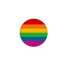 Gay Pride Rainbow Flag Mini Button (10 pack)