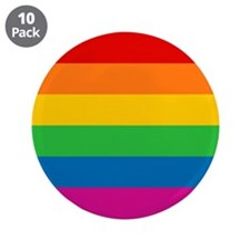 "Gay Pride Rainbow Flag 3.5"" Button (10 pack)"