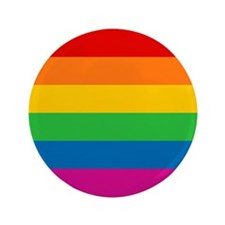 "Gay Pride Rainbow Flag 3.5"" Button (100 pack)"