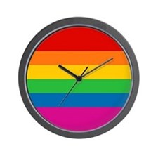 Gay Pride Rainbow Flag Wall Clock