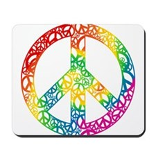 Rainbow Peace Symbols Mousepad