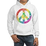 Rainbow Peace Symbols Hoodie Sweatshirt