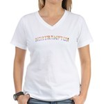 Retro Rainbow Northampton Women's V-Neck T-Shirt
