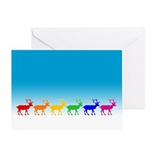 Rainbow Reindeer Greeting Card