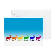 Rainbow Reindeer Greeting Cards (Pk of 10)
