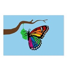 Rainbow Butterfly Emerging From Chrysalis Postcard