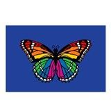 Rainbow Butterfly Postcards (Package of 8)