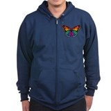 Rainbow Butterfly Zip Hoodie