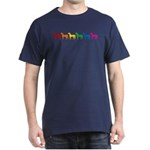 Rainbow Colored Horses Dark T-Shirt