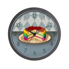 Rainbow Cake Wall Clock