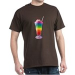 Rainbow Stripe Milkshake Dark T-Shirt