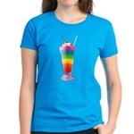 Rainbow Stripe Milkshake Women's Dark T-Shirt