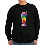 Rainbow Stripe Milkshake Sweatshirt (dark)