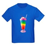 Rainbow Stripe Milkshake Kids Dark T-Shirt