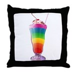 Rainbow Stripe Milkshake Throw Pillow