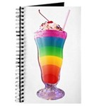 Rainbow Stripe Milkshake Journal